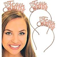 Bachelorette Tiara - Team Bride Rose Gold Headbands - SET OF 3 - Bachelorette Party Decorations, Bridal Shower Tiara…