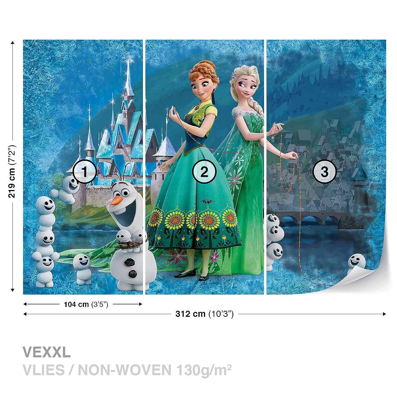 Disney Frozen Eiskönigin Anna Elsa Olaf Fototapete Tapeten Fototapeten Wandbilder Fotomural (2959DK)