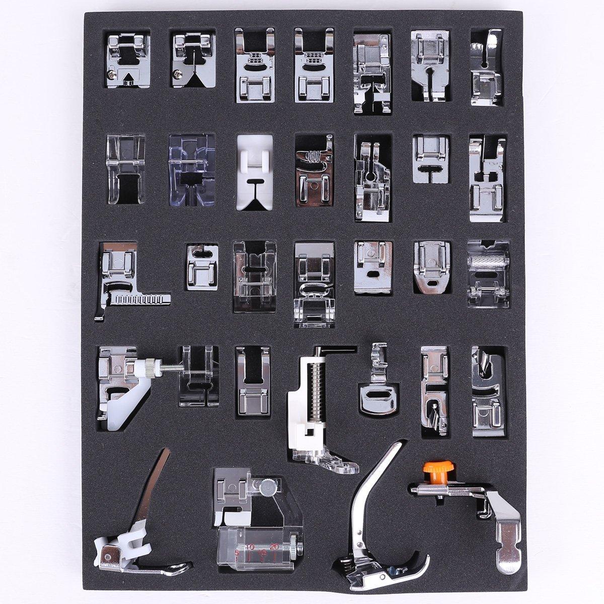 icase4u® Kit de 32 Piezas Multifuncional Piezas Prensatelas Accesorios para Máquina de Coser Presser Foot Feet Kit Machines Set: Amazon.es: Juguetes y ...