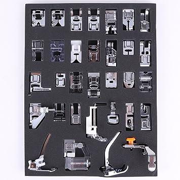 icase4u® Kit de 32 Piezas Multifuncional Piezas Prensatelas Accesorios para Máquina de Coser Presser Foot