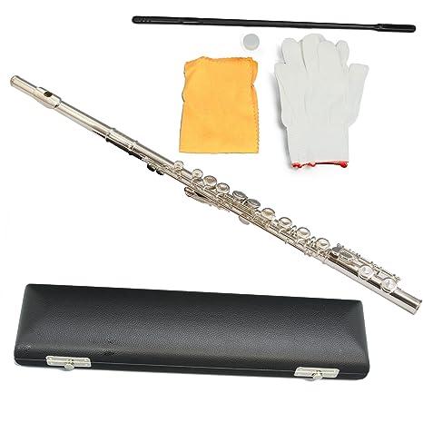 Conductor chapado en níquel flauta – Serie II con funda y accesorios de madera