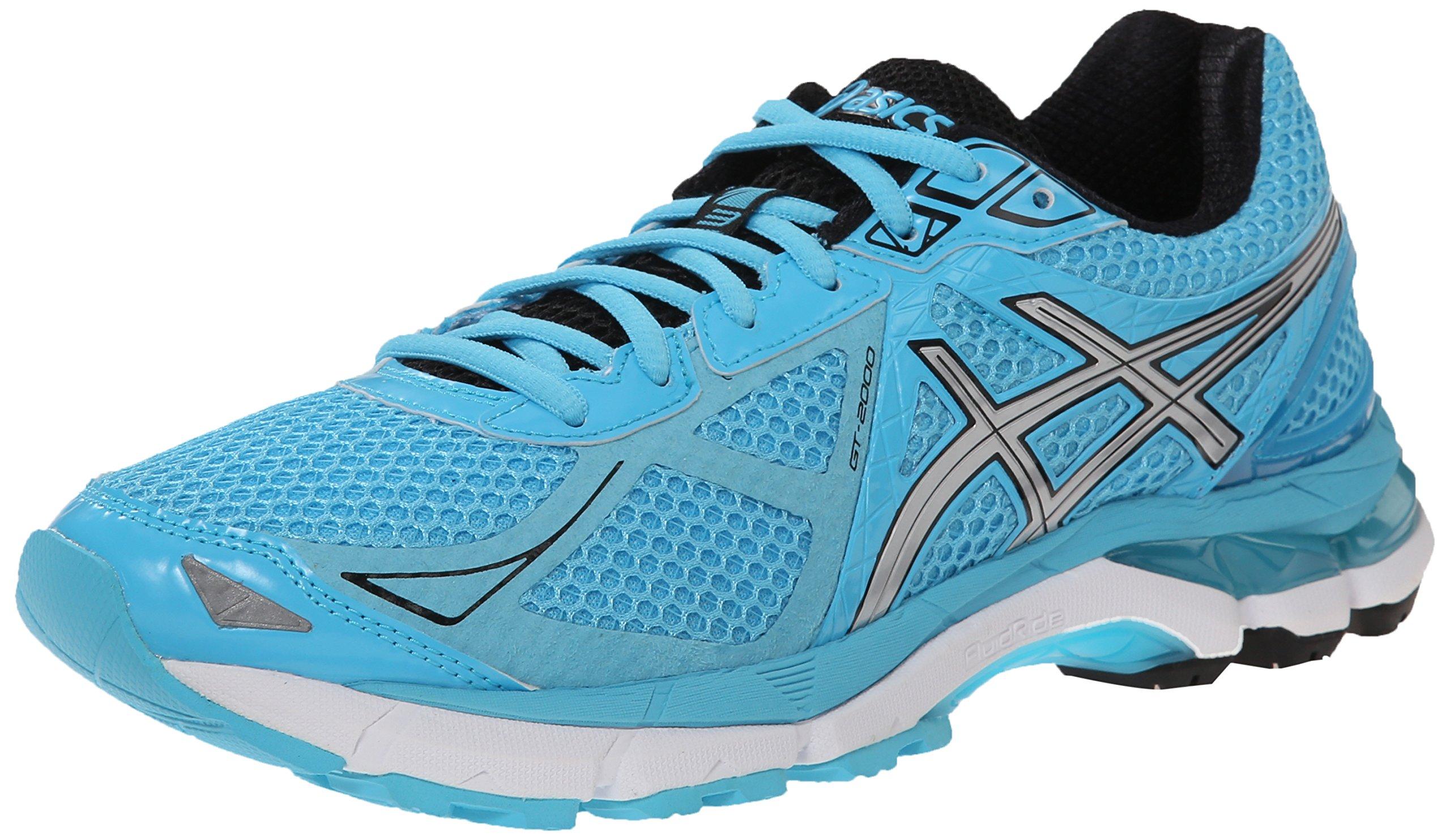 ASICS Women's GT-2000 3 Running Shoe, Turquoise/Silver/Black, 5 M US