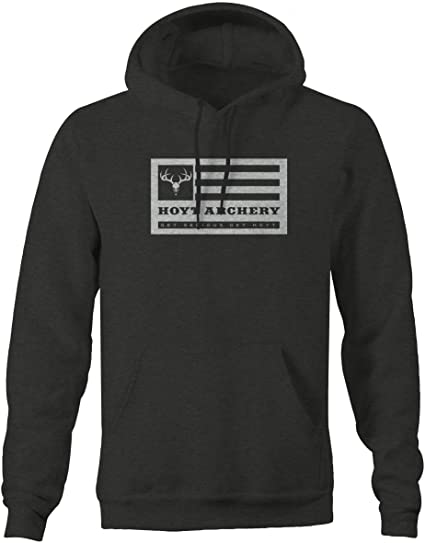4a842fedb Amazon.com: One Stop Outfitters Hoyt Archery Deer Flag Get Serious Bow  Hunting Sweatshirt: Books