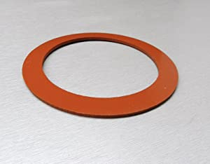 """SILICONE GASKET SEAL VACUUM JEWELRY CASTING 4"""" PERFORATED FLASKS SEAL (E2)"""