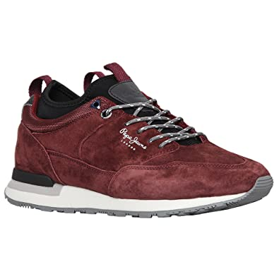 47a19c3ccf2 Pepe Jeans Boston Treck Chaussure Homme Rouge Taille  Amazon.fr ...