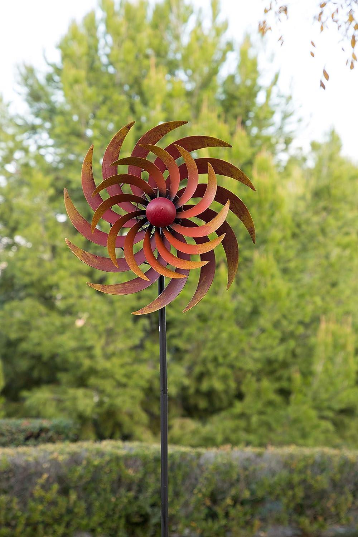 Alpine Corporation NCY324 Firey Metal Windmill, Multicolor