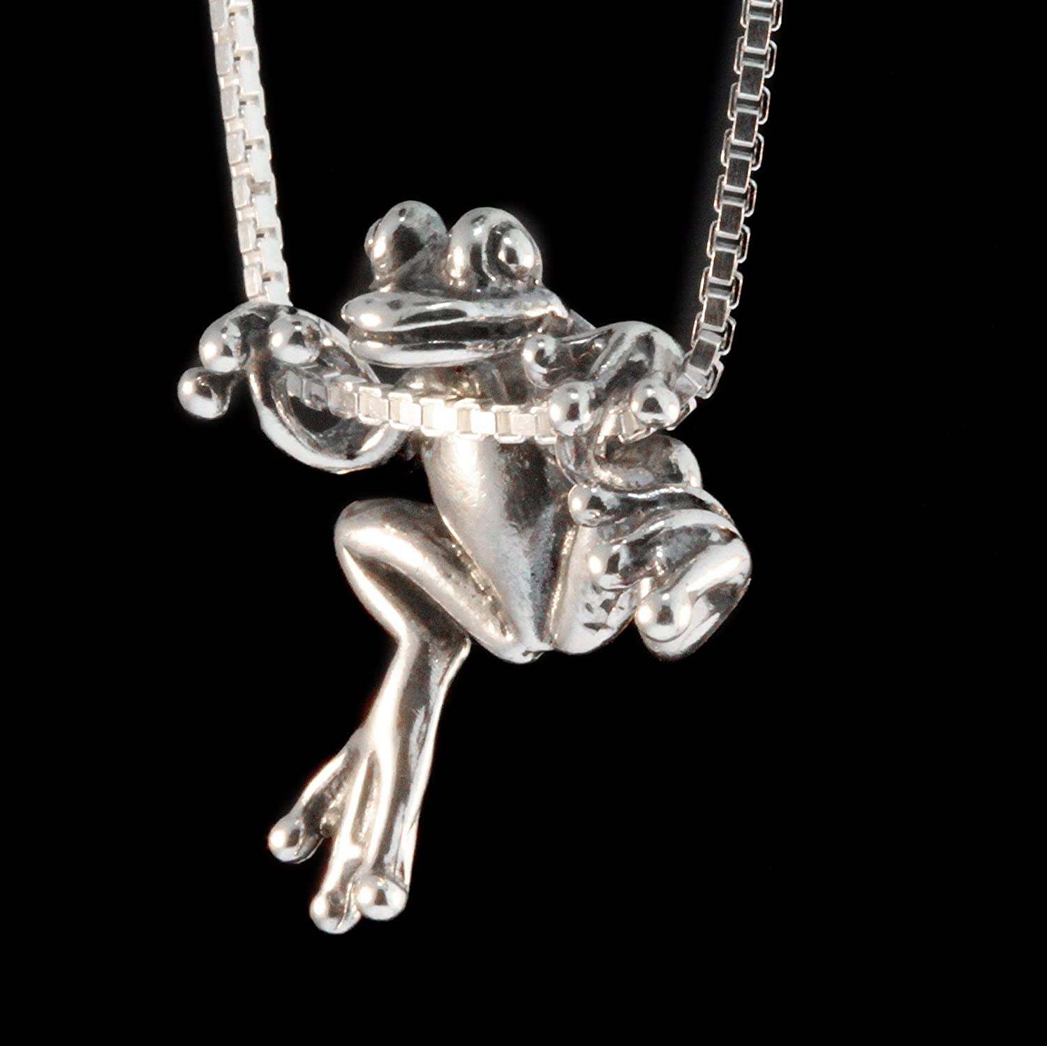 Frog Charm Vintage Frog Charm 925 Silver Nature STERLING silver FROG  BAMBOOK Fine jewelry Stylish pendant Animal Charm Frog Pendant