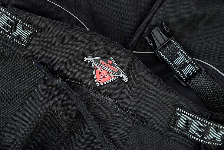 Surpantalon de Moto imperm/éable Long Noir W40 Fermeture /Éclair sur Toute la Longueur