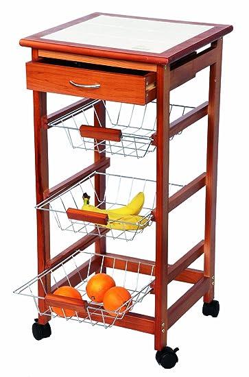 Exklusiver Kuchenwagen Aus Holz Arbeitsplatte Aus Metall Amazon