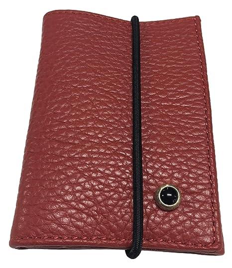 414ff714c4 ANDREA D'AMICO portafoglio uomo 100% pelle alce MADE IN ITALY APU0060 (Rosso
