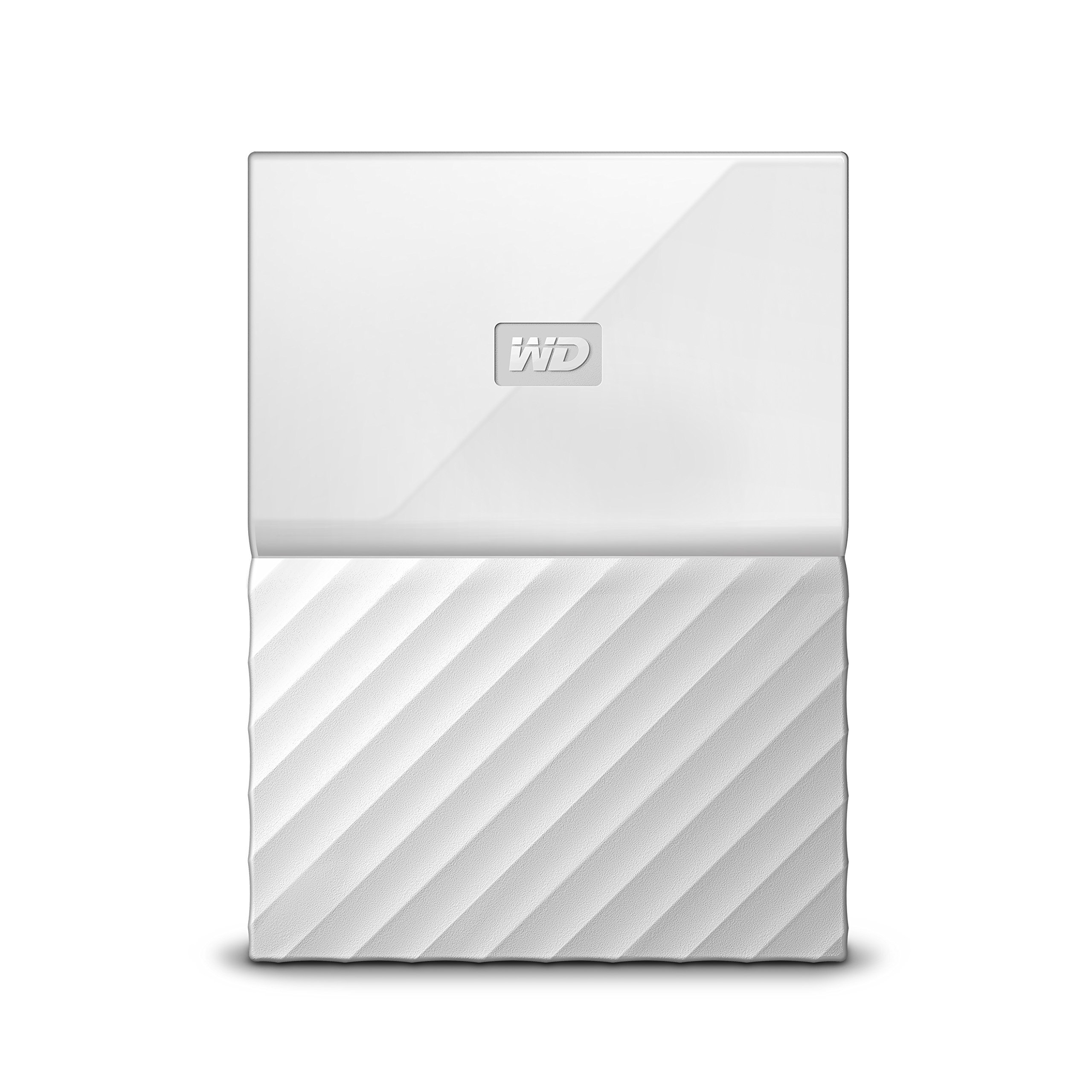 WD 1TB White My Passport  Portable External Hard Drive - USB 3.0 - WDBYNN0010BWT-WESN (Certified Refurbished) by Western Digital