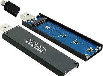 Sintech nVME - Caja externa para SSD (USB 3.0, M.2 (NGFF), con conector USB 3.1 tipo C: Amazon.es: Electrónica
