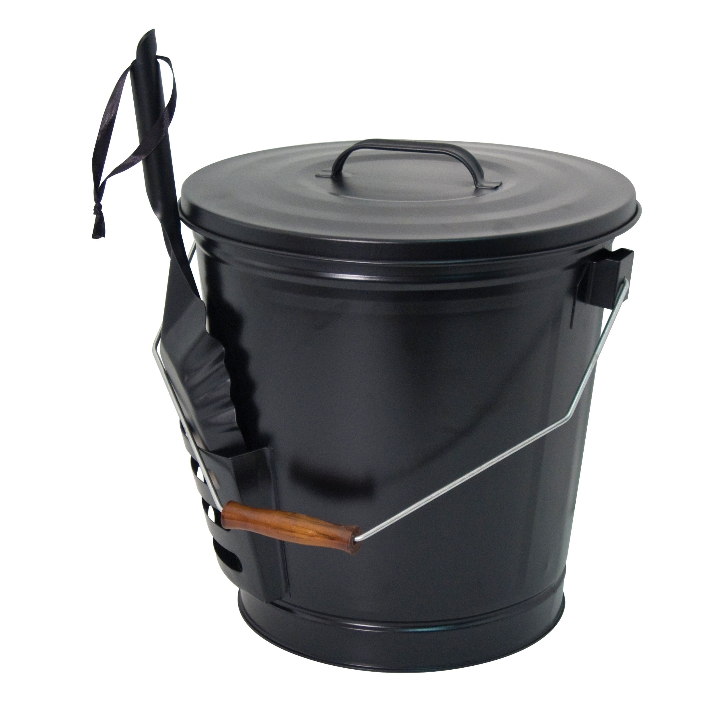 Panacea 15343 Ash Bucket with Shovel, Black by Panacea
