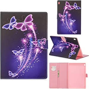 Case for Lenovo Tab4 10/Tab4 10 Plus Ultra Lightweight Slim PU Leather Protective Case with Card Slot and Magnetic Cover for Lenovo Tab4 10/Tab4 10 Plus 10.1 Inch Tablet PC,3#Butterflies