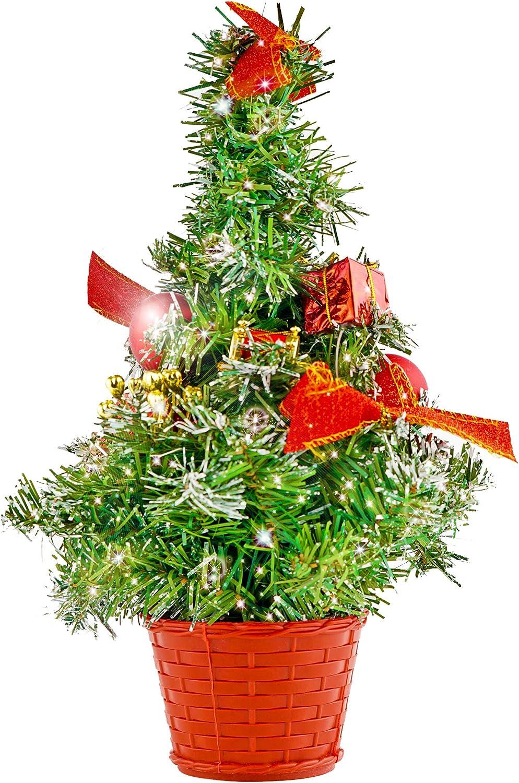 THE TWIDDLERS Mini Árbol de Navidad para Escritorio - Decoración pequeño Ideal para Fiestas de Navidad - Mesas - Escritorio - hasta 42 CM: Amazon.es: Hogar