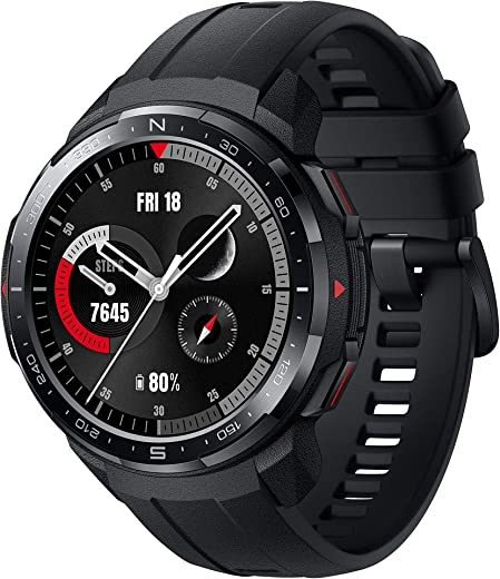 """Honor Watch GS Pro Smart Watch, 1.39"""" AMOLED 5ATM Waterproof 25 Days Standby Smart Bracelet with Bluetooth GPS Fitness Runing Watch (Black)"""