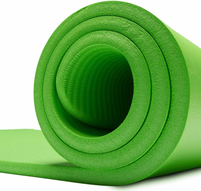et Doux Gymnastique et Yoga//Dimensions: 183 x 61 x 1,5 cm//Disponible dans de Nombreuses Couleurs. id/éal pour Pilates 1,5cm #DoYourFitness/® Yamuna Tapis de Fitness//Ultra-/Épais
