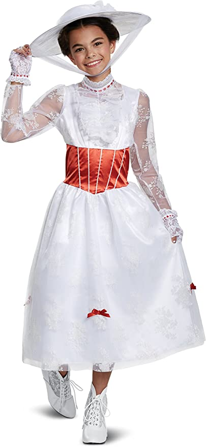 Victorian Kids Costumes & Shoes- Girls, Boys, Baby, Toddler Disguise Deluxe Mary Poppins Costume for Kids  AT vintagedancer.com