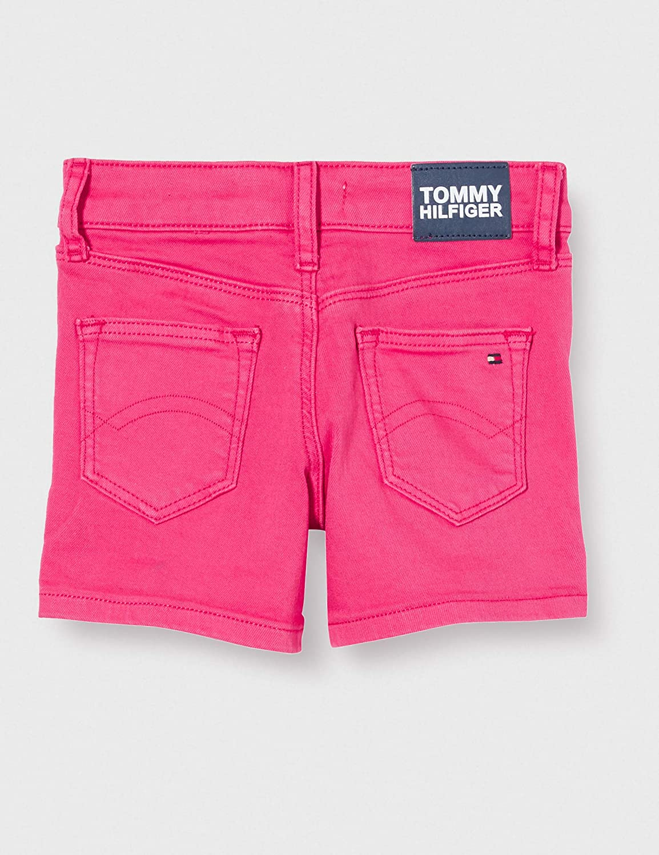 Bambina Tommy Hilfiger Nora Short Socdst Pantaloncini Taglia Unica: 4 Blush Red Xif 3-4 Anni Rosso