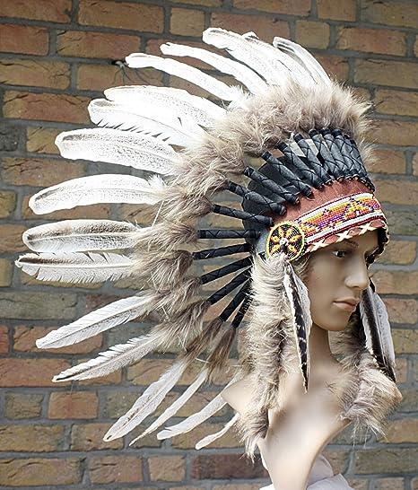 Einzelstuck Indianer Kopfschmuck Kurz Federhaube Helle