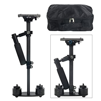 Neewer Carbon Fiber 24 inches//60 Centimeters Handheld Stabilizer with 1//4 3//8 inch Screw Quick Shoe Plate for Canon Nikon Sony and Other DSLR Camera Video DV up to 6.6 pounds//3 kilograms Black