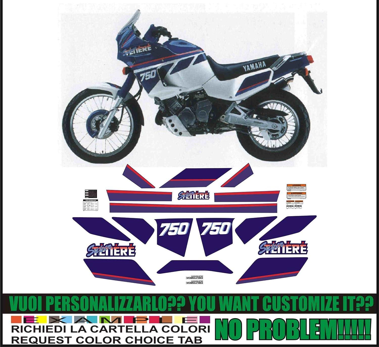 Kit adesivi decal stickers yamaha XT 750 Z SUPER TENERE 1990 WHITE BLUE