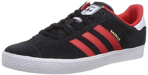 adidas Gazelle 2 - Zapatillas para bebés, Color Schwarz (Core Black/Red/FTWR White), Talla 38: Amazon.es: Zapatos y complementos