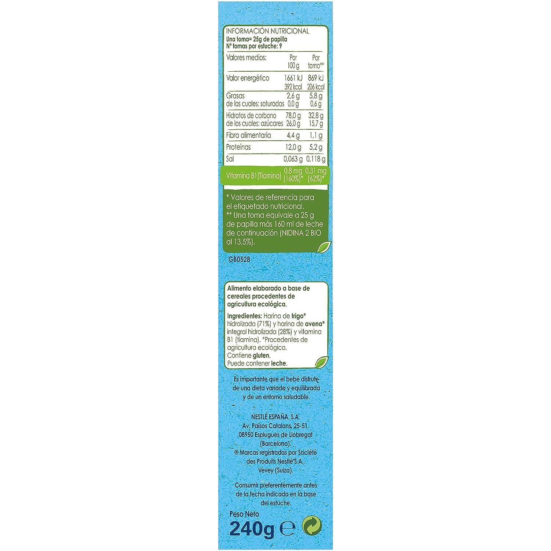 Nestlé Naturnes Bio - Papilla de cereales Trigo y Avena - Alimento Para bebés - 6x240g: Amazon.es: Alimentación y bebidas