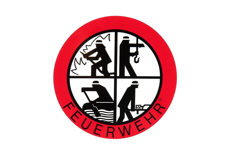 Feuerwehr Aufkleber - DFV - Signet-Klebeplakette 90 mm innen MIH-Medical
