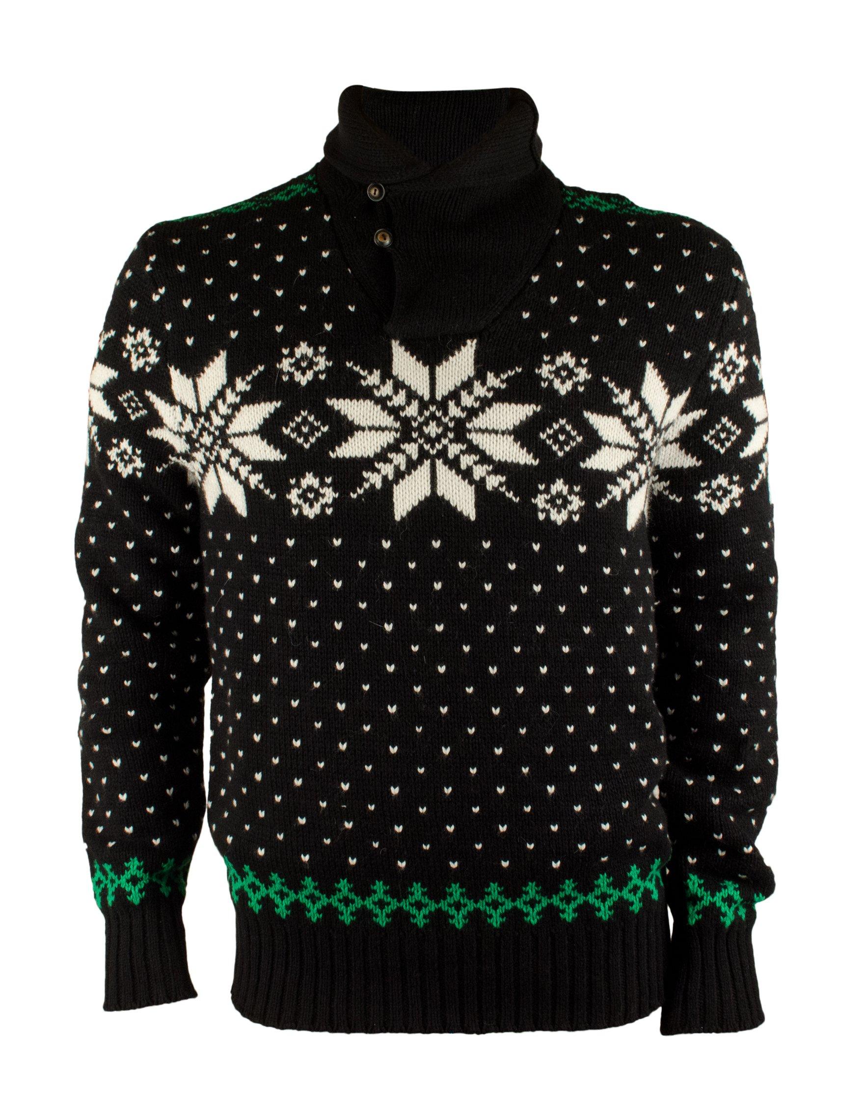 Polo Ralph Lauren Men's Snowflake Shawl-Collar Sweater-B-M