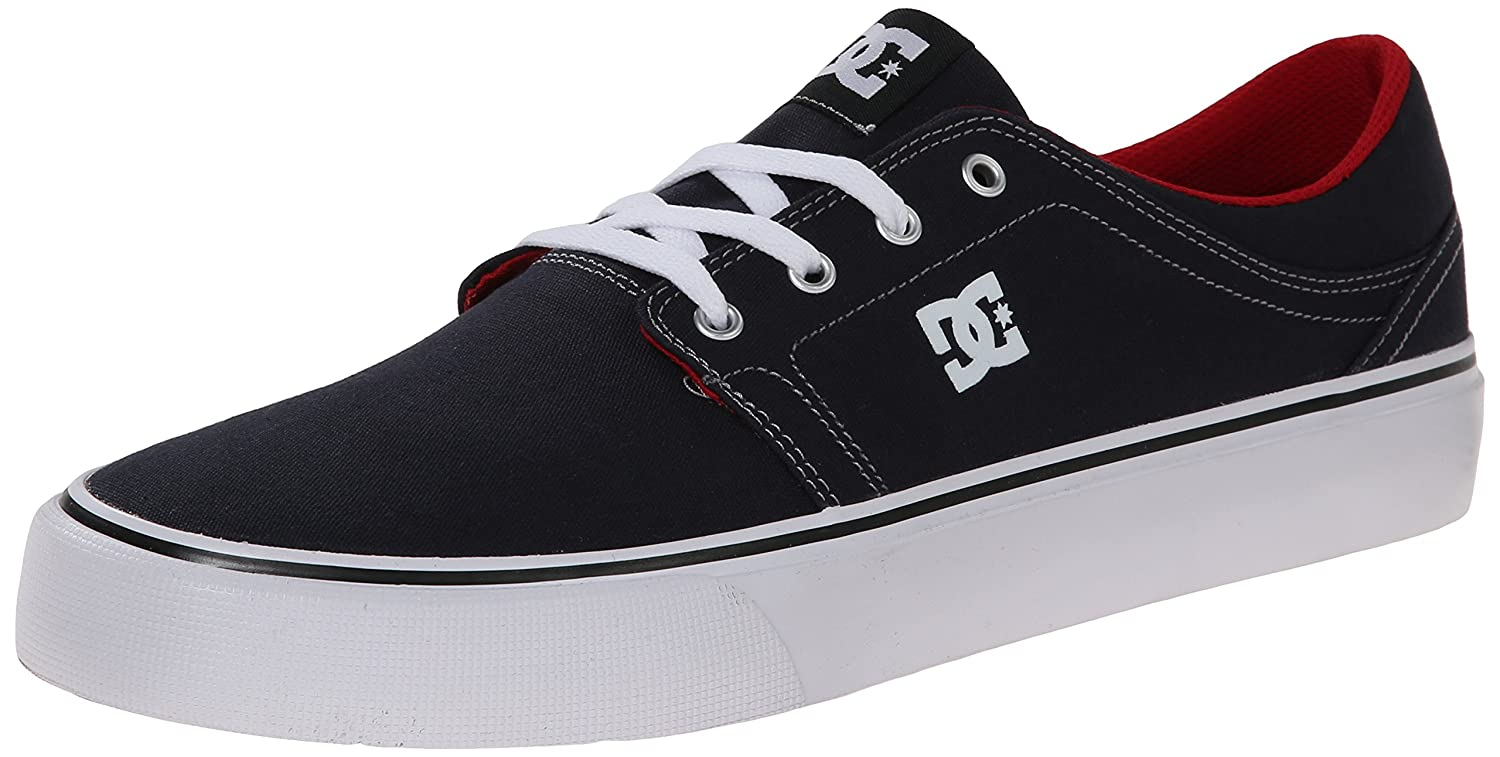 DC Men's Trase TX Unisex Skate Shoe B00NPECPRO 12 W US|Blue/Red