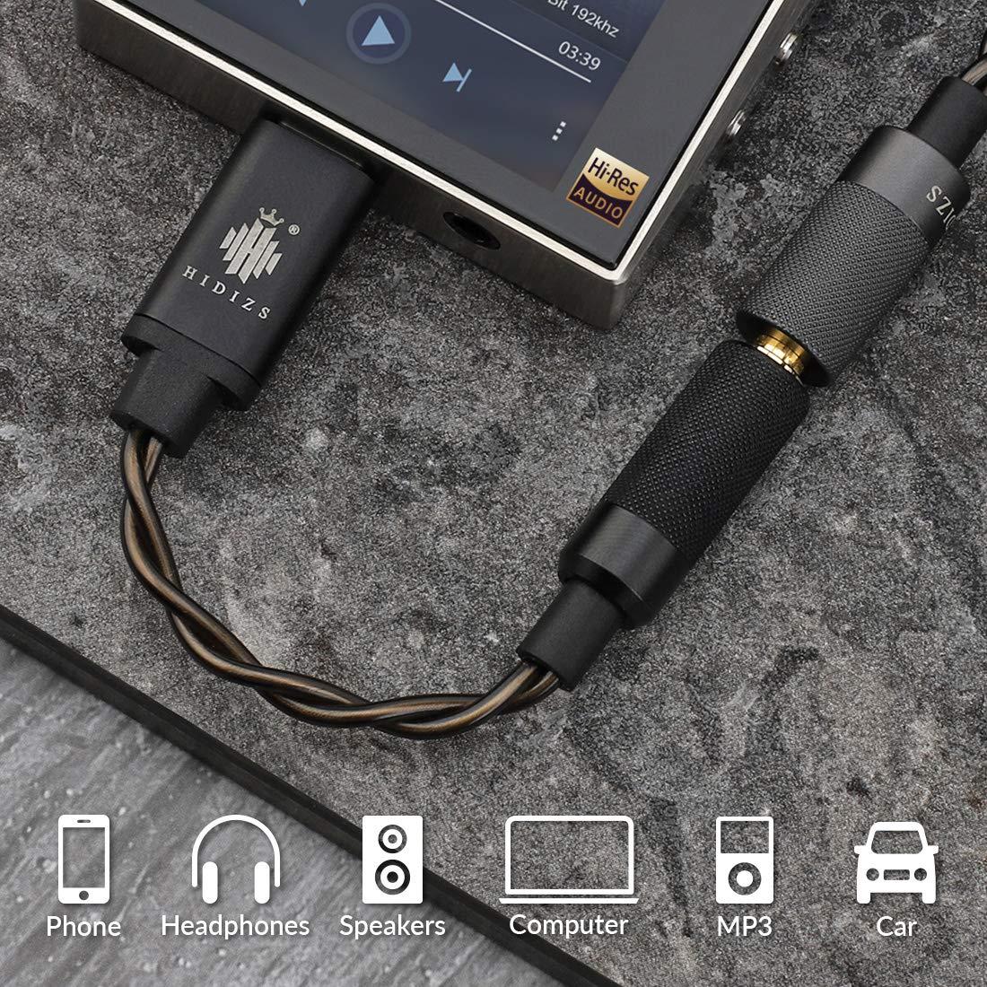 Windows10 HIDIZS S1 Tragbarer Kopfh/örer-Verst/ärker USB Typ C auf 3,5 mm Kopfh/örer-DAC-Kabel-Konverter f/ür MacOSX//Android
