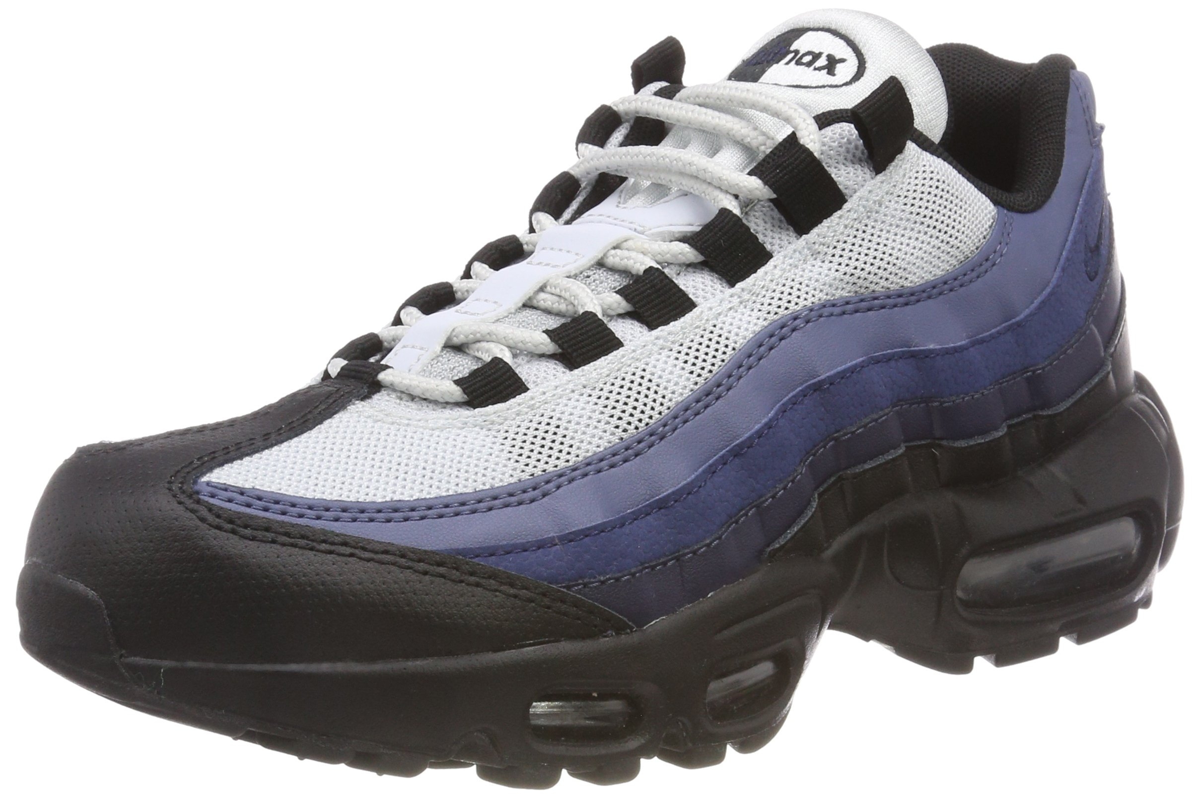 big sale 880fd 84ad5 Galleon - Nike Air Max 95 Men s Essential Shoes Black Obsidian Navy Blue  749766-028 (12 D(M) US)