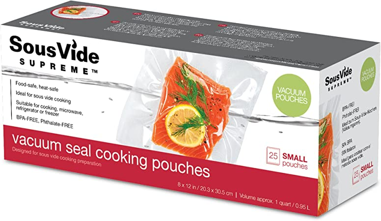 SousVide Supreme Vacuum Seal Cooking Pouches, Small, SVV-00302