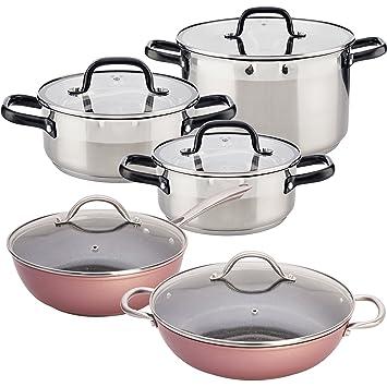 San Ignacio Vita: Batería de Cocina: Cacerolas: Ø20x8,5 (2 L), Ø24x10,5 (4 L) y ...
