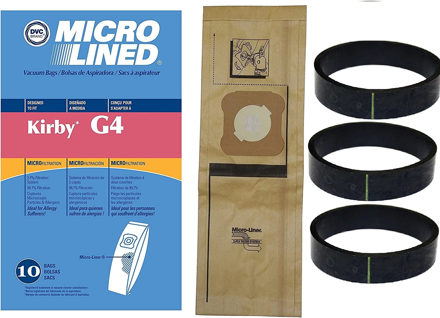 2 Pk. Ultimate G And Kirby G3-G6 Kirby Allergen Reduction Filters for All Generation Models Including Kirby Sentria