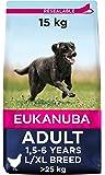 Eukanuba Alimento seco para perros adultos de razas grandes con pollo 15 kg