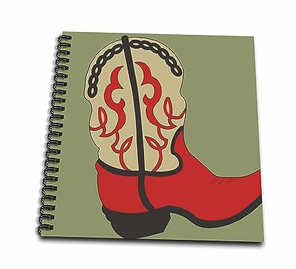 TNMGraphics viejo oeste - rojo Cowboy Boot - Dibujo libro - dibujo ...