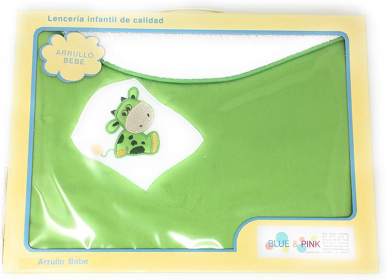 Manta/Arrullo 100% algodón de doble capa rizo bordar nombre bebé ...