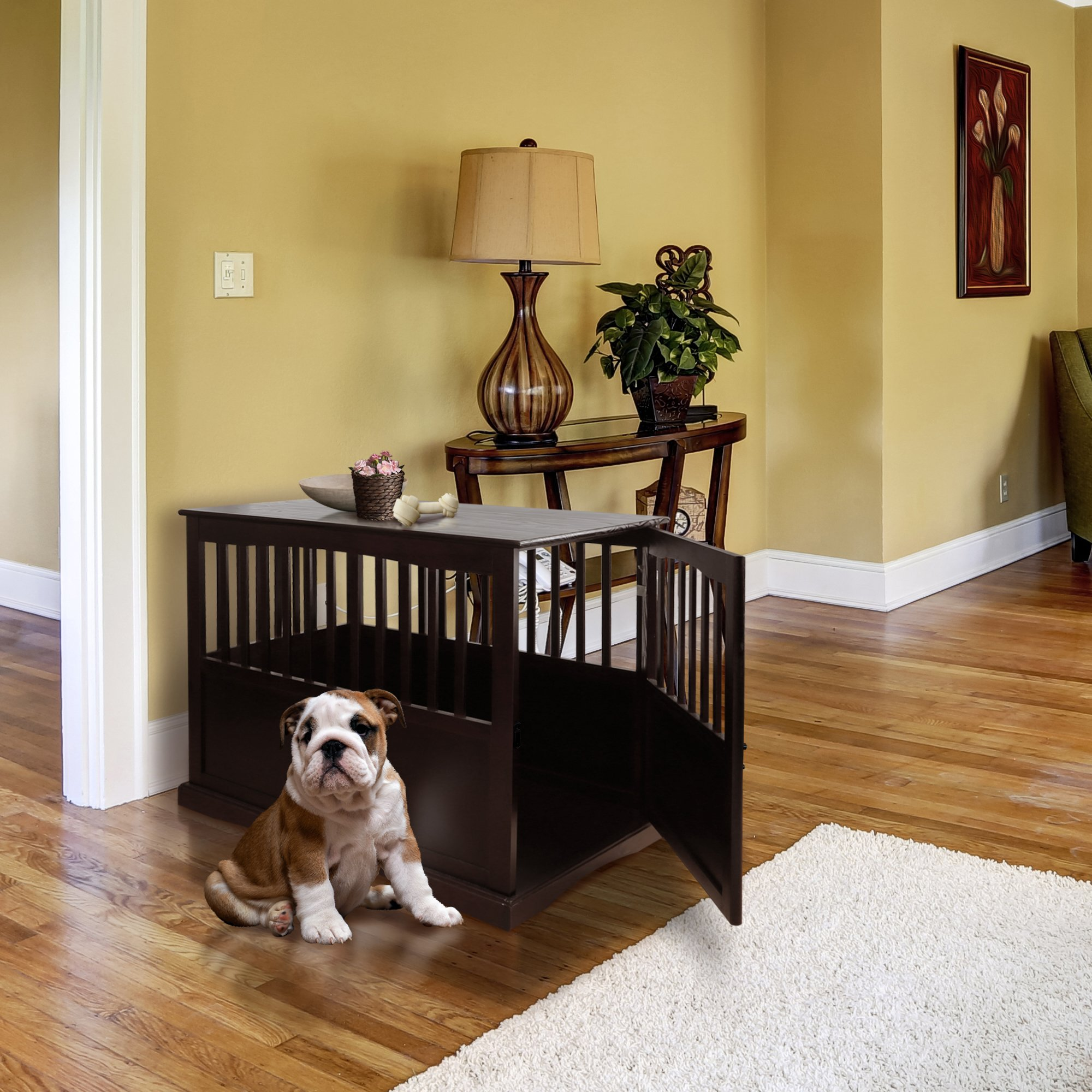 "Casual Home 600-24 Wooden Pet Crate, Espresso, 27"" H"