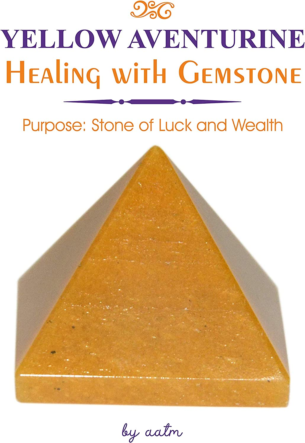 Aatm Energy Generator Gemstone Crystal Pyramid for EMF Protection Chakra Healing Meditation 2 and 2 Inches