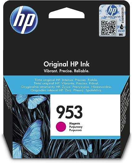 Oferta amazon: HP 953 F6U13AE, Magenta, Cartucho de Tinta Original, compatible con impresoras de inyección de tinta HP OfficeJet Pro 7720, 7730, 7740, OfficeJet Pro Series 8000