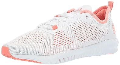 10fdc76e0f Reebok Women's FLEXAGON LES Mills Cross Trainer, White/Stellar Pink, 8 M US