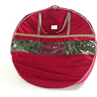 "CoverMates – 48"" Christmas Wreath Storage Bag – 3 Year Warranty- Red"