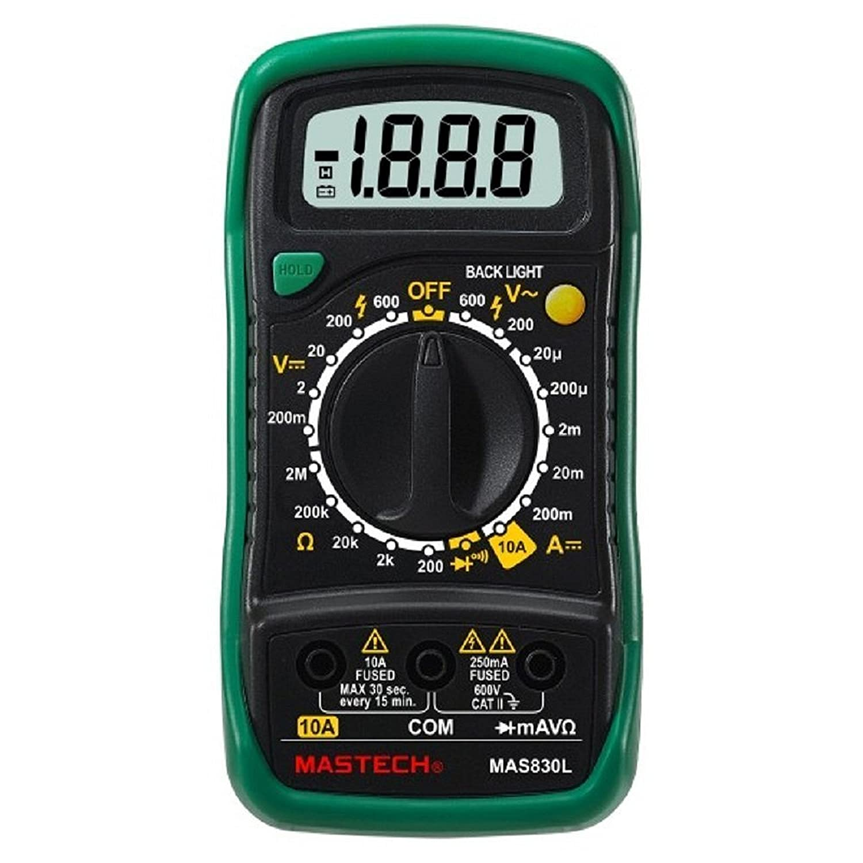 Mastech Mas830l Digital Pocket Multimeter Colour May Vary Yellow Digtal Led Voltmeter Circuit Diagram Tradeoficcom Or Green Industrial Scientific