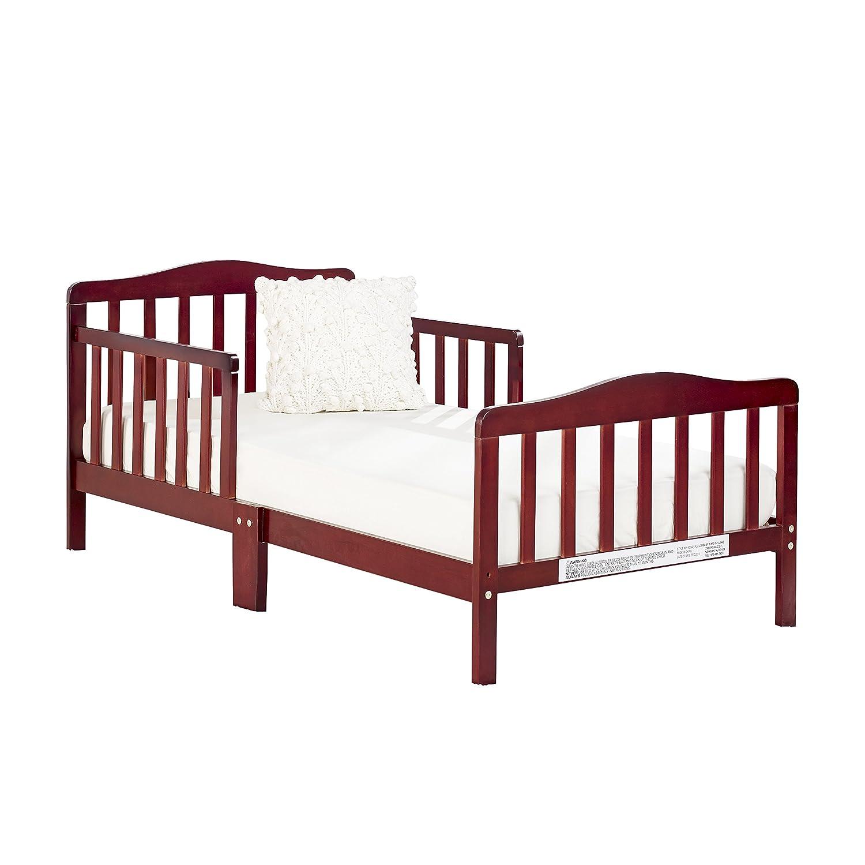 Big Oshi Contemporary Toddler Bed /& Mattress Bundle Waterproof Non-Toxic Mattress Natural Color Bed