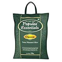 Popular Essentials Classic Sona Masouri Rice Raw, 10kg