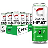 CELSIUS HEAT Cherry Lime Performance Energy Drink, Zero Sugar, 16oz. Can, 12 Pack