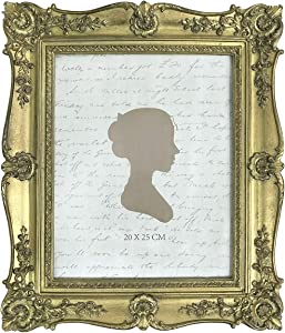 AELS 8x10 Inch Vintage Picture Frame, Elegant Antique Photo Frames with Glass Front, Photo Display, Tabletop Wall Hanging, Gift Ideas, Four-cornered Vine