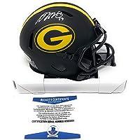 $109 » Davante Adams Green Bay Packers Signed Autograph Rare Eclipse Speed Mini Helmet…